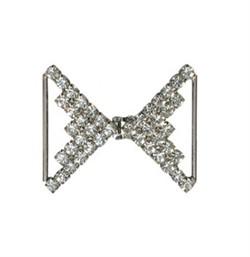 Застёжка для одежды металлическая со стразами  45х40 мм 1 шт   - фото 100089