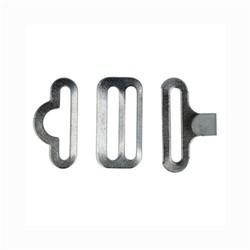 Застёжки для  бабочек и галстуков 18 мм цвет никель 1 компл. - фото 100099