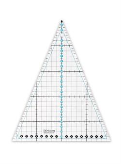 """Линейка для пэчворка 24x20 см """"треугольник 45°"""" 1 шт - фото 100169"""