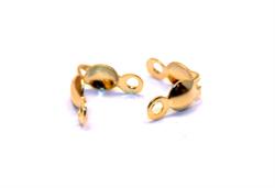 Зажим для узла цвет золото (уп.10 шт) - фото 100272