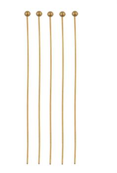 Штифт с шариком 50 мм золото 50 шт - фото 100328