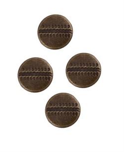 Хольнитены d 9.5 мм  бронза 10 шт   - фото 100554