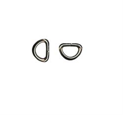 Полукольцо металлическое 10 мм  никель 1 шт. - фото 100568