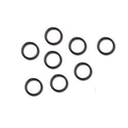Кольцо для бус 4 мм черный никель  (уп. 50 шт) - фото 100598