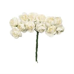 Декоративные элементы 'Цветы' белые 1 шт - фото 100812