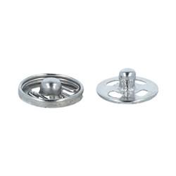 Кнопки пришивные  металлические d 10 мм  никель  уп.10 шт. - фото 101280