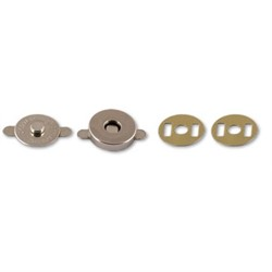 Кнопки магнитные металлические d 18 мм никель 1 компл - фото 101407