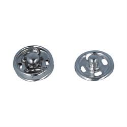 Кнопки пришивные металлические 'Gamma'  d 7 мм цвет никель 10 шт. - фото 101745
