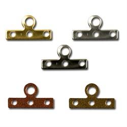 Держатель для нитей 7 x 14 мм (уп. 50 шт) золото - фото 39750