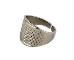 Наперсток-кольцо регулируемый металлический  - фото 58768