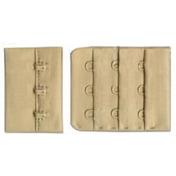 Застежки для бюстгальтеров кремово-бежевые 45 мм  1 компл - фото 61043