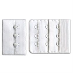 Застежки для бюстгальтеров 45 мм  белые 1 компл - фото 61044