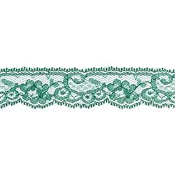 Кружево 30 мм  цвет темно-зеленый 1 м - фото 61155