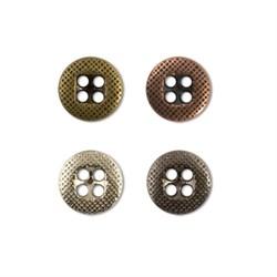 Пуговицы металлические   14 ' ( 9 мм)  1 шт - фото 61225