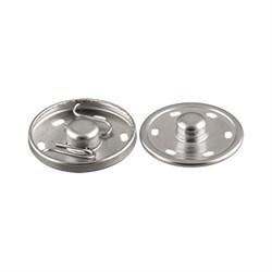 Кнопки пришивные металлические d 25 мм под никель 1 шт. - фото 61763