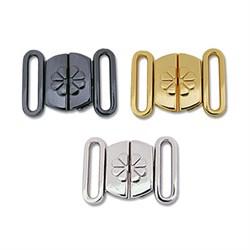 Застежки для бюстгальтеров металлические   24 х 17 мм  1 шт - фото 64177