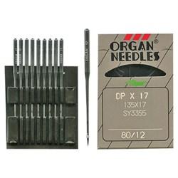 Иглы для ПШМ  'ORGAN' для тяжелых тканей №80 1 шт. - фото 64737