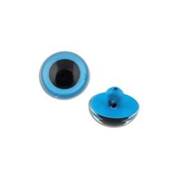 Глаза кристальные пришивные  d 10.5 мм (цвет голубой) 1 пара - фото 65084