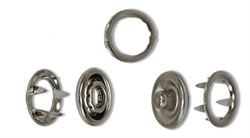 Кнопки рубашечные   металл  d  9 мм  10 шт (комплектов) - фото 66688