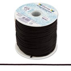 Шнур декоративный  1,4 мм  черный 1 м  - фото 66876