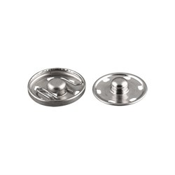 Кнопки пришивные металлические d 21 мм под никель 1 шт. - фото 67134