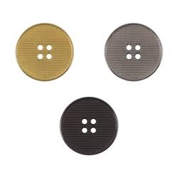 Пуговицы металлические   28 ' ( 18 мм)  1 шт - фото 67353