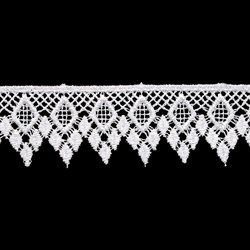 Гипюр белый  26 мм  1м - фото 67369