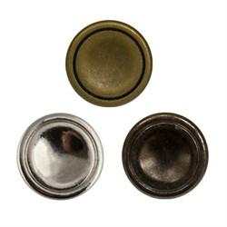 Пуговицы металлические    16 ' ( 10 мм)  1шт - фото 67575