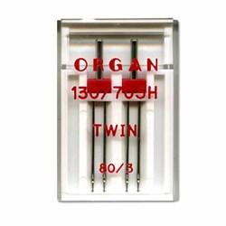 Игла 'ORGAN' двойная для БШМ универсальная 80/3 1 шт.   - фото 69093