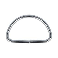 Полукольцо металлическое никель 25 мм  1 шт. - фото 69662