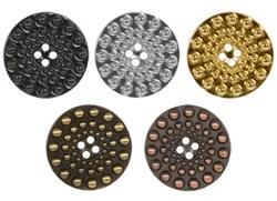 Пуговицы металлические   40 ' ( 25 мм)  1 шт   - фото 70532