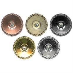 Пуговицы металлические     38 ' ( 24 мм)  1 шт  - фото 72115