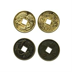 "Подвеска ""Китайская монетка"" золото  1шт - фото 72948"