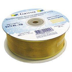 Тесьма  декоративная металлизированная (золото) 38 мм  1 м - фото 73109