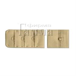 Застежка для бюстгальтеров 25 мм цвет кремово-бежевый 1 компл - фото 74633