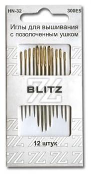 Иглы для шитья ручные 'BLITZ'   блистер 12 шт. - фото 77417