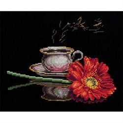"""Набор для вышивания """"Кофе для неё"""" 27х22 см """"Сделай Своими Руками""""  - фото 78497"""