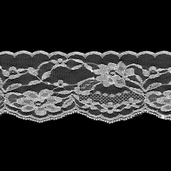 Кружево 73 мм цвет белый 1м    - фото 79234