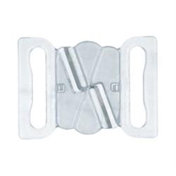 Застежки для бюстгальтеров пластиковые 18 мм  1 шт - фото 87243