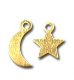 Подвески 'Звезды и луна' золото - фото 88111