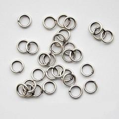 Кольцо для бус  7 мм никель (уп. 50 шт) - фото 88168