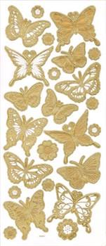 """Наклейки трехмерные  """"Бабочки"""" (под золото) - фото 89759"""