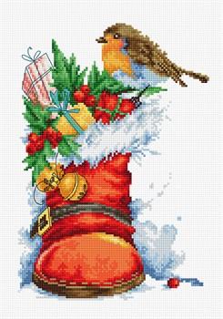 """Рождественский сапожок"" 15,5х22 см  ""Luca-S"" - фото 89843"
