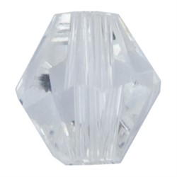 Бусины стеклянные биконус  4 х 4 мм  34 шт  на нити - фото 89869