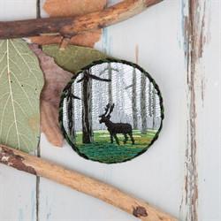 """Брошь """"Лесной олень"""" - фото 90409"""