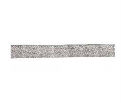 Металлизированная лента (серебро) 10 мм  1 м - фото 90514