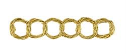 Тесьма металлизированная золото 17 мм  1м - фото 90522