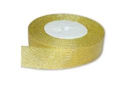Тесьма металлизированная золото 30 мм 1 м  - фото 90526