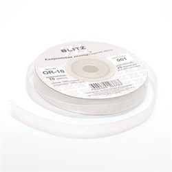 Лента капроновая 10 мм белая 1м   - фото 93084