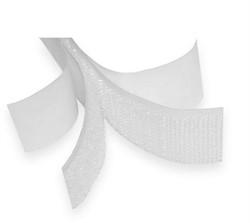Липучка с липким слоем белая 25 мм  1 метр - фото 93085